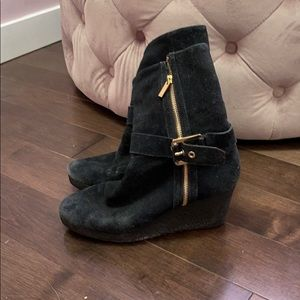 Michael Kors Wedge Sherpa Ankle Boots